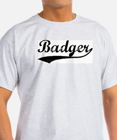 Badger - Vintage Ash Grey T-Shirt