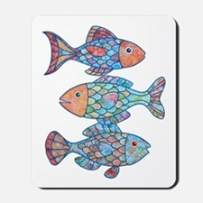 fishes 3 Mousepad