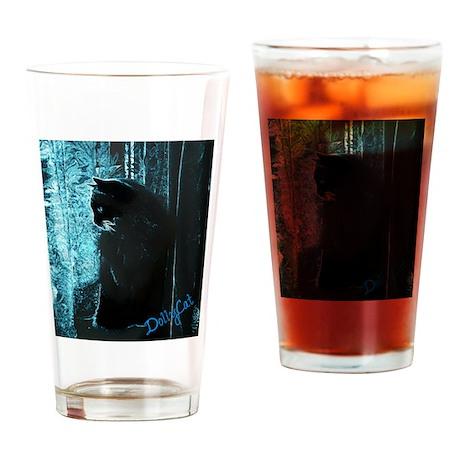 DollyCat Deep Deep Blue - Ragdoll Cat Drinking Gla