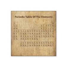 "Vintage Periodic Table Square Sticker 3"" x 3"""