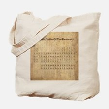 Vintage Periodic Table Tote Bag