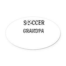soccer grandpa Oval Car Magnet