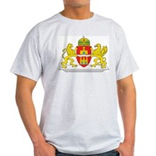 Budapest Coat Of Arms Ash Grey T-Shirt