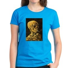 Van Gogh Skull With Burning Cigarette Tee