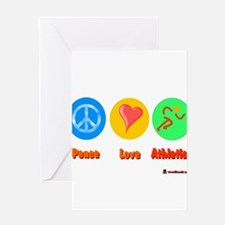 Peace Love Athletics 6000.png Greeting Card