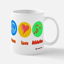 Peace Love Athletics 6000.png Mug