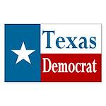 Texas Democrat Rectangle Sticker