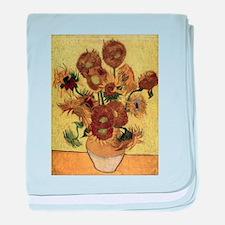 Vincent Van Gogh Sunflowers baby blanket