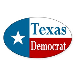 Texas Democrat Oval Decal