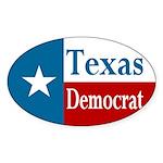 Texas Democrat Oval Sticker