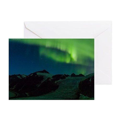 Juneau Icefield Northern Light Greeting Card (10)
