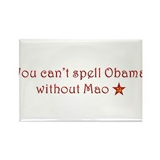 Obama and Mao Rectangle Magnet
