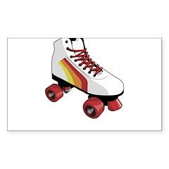 Retro Roller Skate Decal