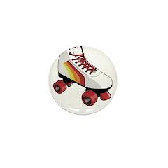 Retro Roller Skate Mini Button