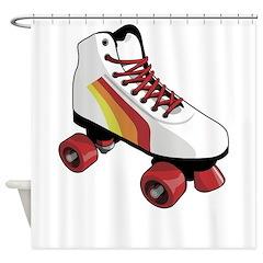 Retro Roller Skate Shower Curtain