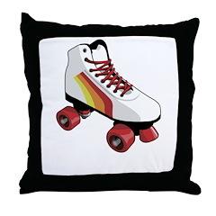 Retro Roller Skate Throw Pillow