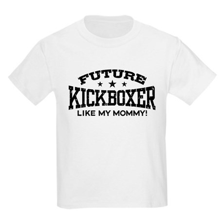 Future Kickboxer Like My Mommy Kids Light T-Shirt