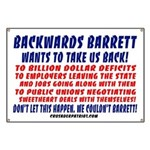 BACKWARDS BARRETT Banner
