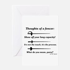 Fencer Thoughts Greeting Card