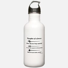 Fencer Thoughts Water Bottle
