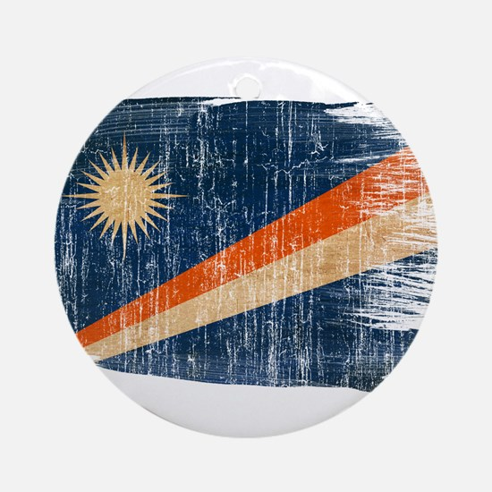 Marshall Islands Flag Ornament (Round)