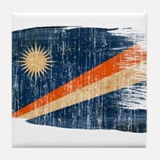 Marshall Islands Flag Tile Coaster