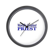 Worlds greatest priest Wall Clock