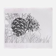 Pine Cone Throw Blanket