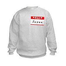 Susan, Name Tag Sticker Sweatshirt