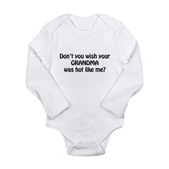 dont u wish black.png Long Sleeve Infant Bodysuit