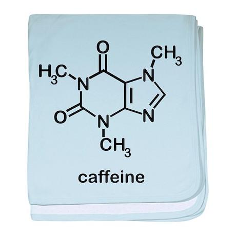 Caffeine Molecule baby blanket