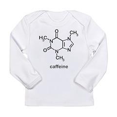 Caffeine Molecule Long Sleeve Infant T-Shirt
