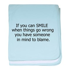 if you can smile.. baby blanket