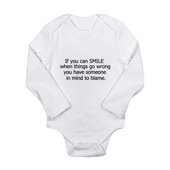 if you can smile.. Long Sleeve Infant Bodysuit