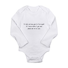 I'm lost.. Long Sleeve Infant Bodysuit
