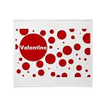 Valentine dots Throw Blanket