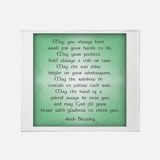 irish blessing (sq) Throw Blanket