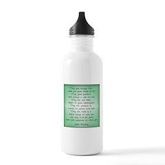 irish blessing (sq) Water Bottle