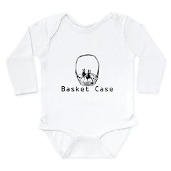 basket case Long Sleeve Infant Bodysuit