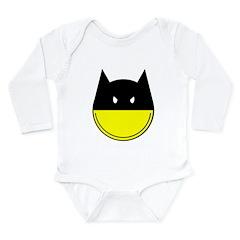 bat smiley Long Sleeve Infant Bodysuit