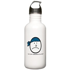 i don't wanna be a pirate Water Bottle