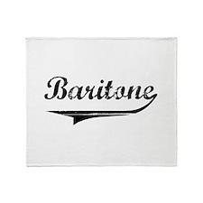 baritone-blk.png Throw Blanket