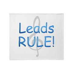 leads rule.png Throw Blanket