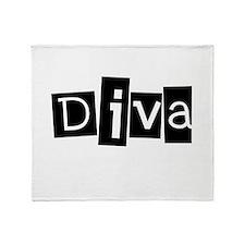 diva blocks-colors.png Throw Blanket