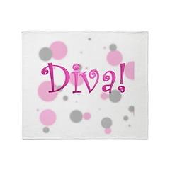 4-3-diva transparent.png Throw Blanket