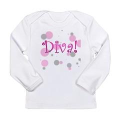 4-3-diva transparent.png Long Sleeve Infant T-Shir