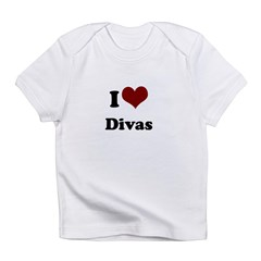 i heart divas.png Infant T-Shirt