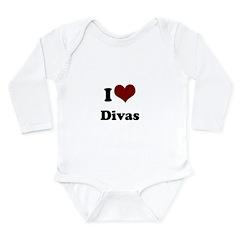 i heart divas.png Long Sleeve Infant Bodysuit