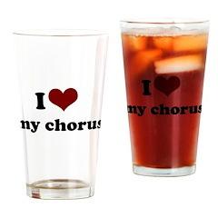 heart my chorus.png Drinking Glass