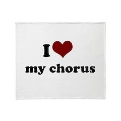 heart my chorus.png Throw Blanket